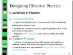 designing effective practice