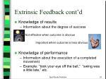 extrinsic feedback cont d