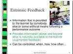 extrinsic feedback