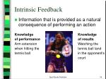 intrinsic feedback