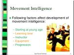 movement intelligence