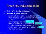 proof by induction on k