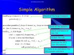 simple algorithm