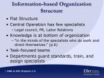 information based organization structure