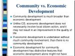 community vs economic development