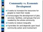 community vs economic development1