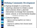 defining community development