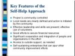 key features of the self help approach
