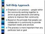 self help approach