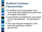 technical assistance characteristics1