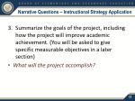 narrative questions instructional strategy application2