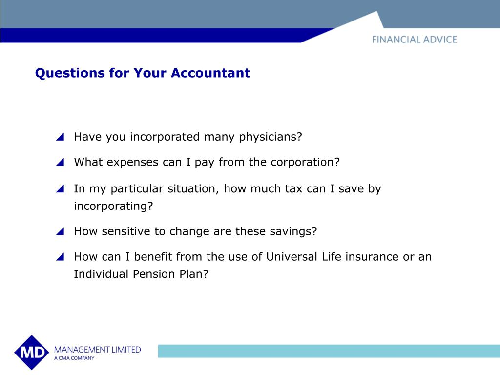 Questions for Your Accountant