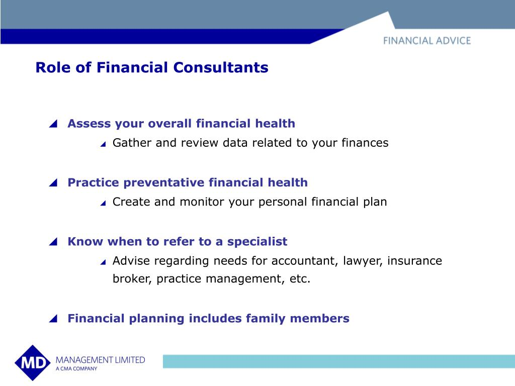 Role of Financial Consultants