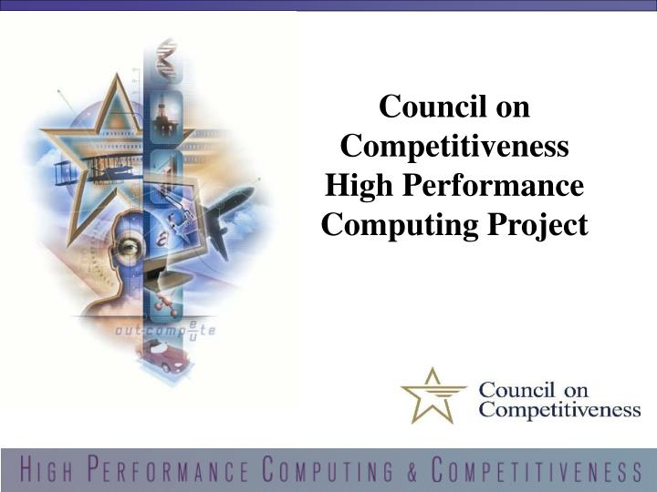council on competitiveness high performance computing project n.