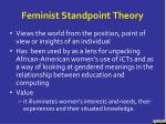 feminist standpoint theory