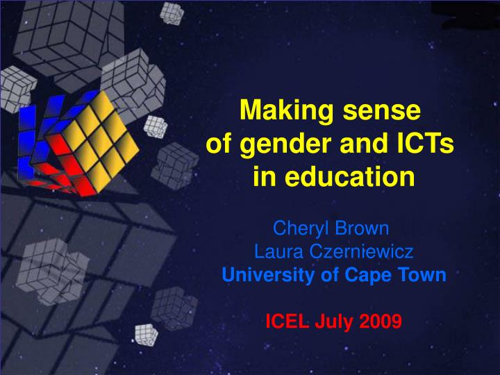 making sense of gender and icts in education n.