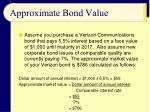 approximate bond value