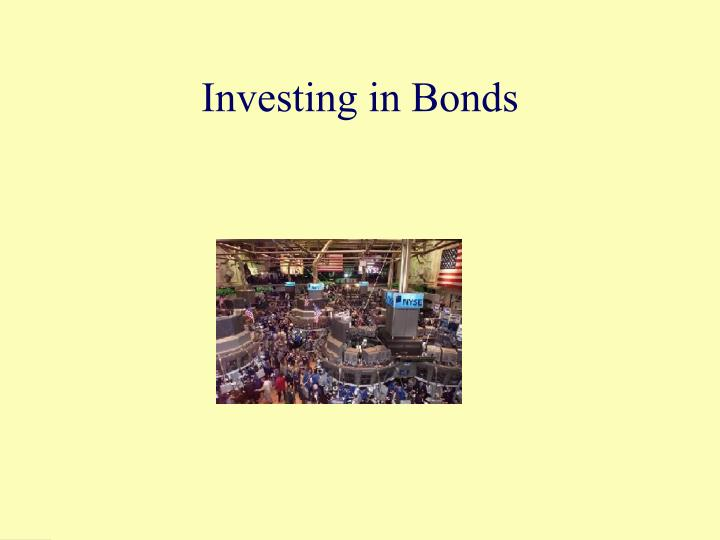 investing in bonds n.