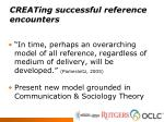 creating successful reference encounters