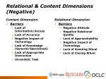 relational content dimensions negative