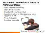 relational dimensions crucial to millennial users