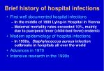 brief history of hospital infections