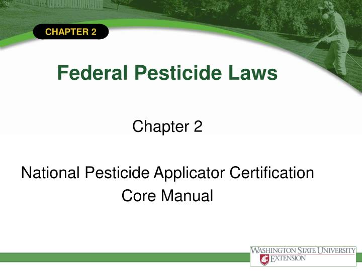 federal pesticide laws n.