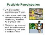 pesticide reregistration