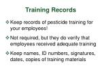 training records