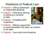 violations of federal law1