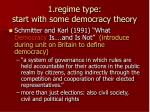 1 regime type start with some democracy theory