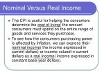 nominal versus real income