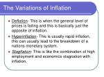 the variations of inflation