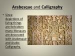 arabesque and calligraphy
