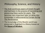 philosophy science and history