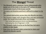 the mongol threat
