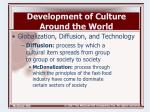 development of culture around the world2