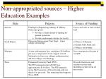 non appropriated sources higher education examples1