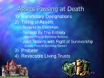 assets passing at death