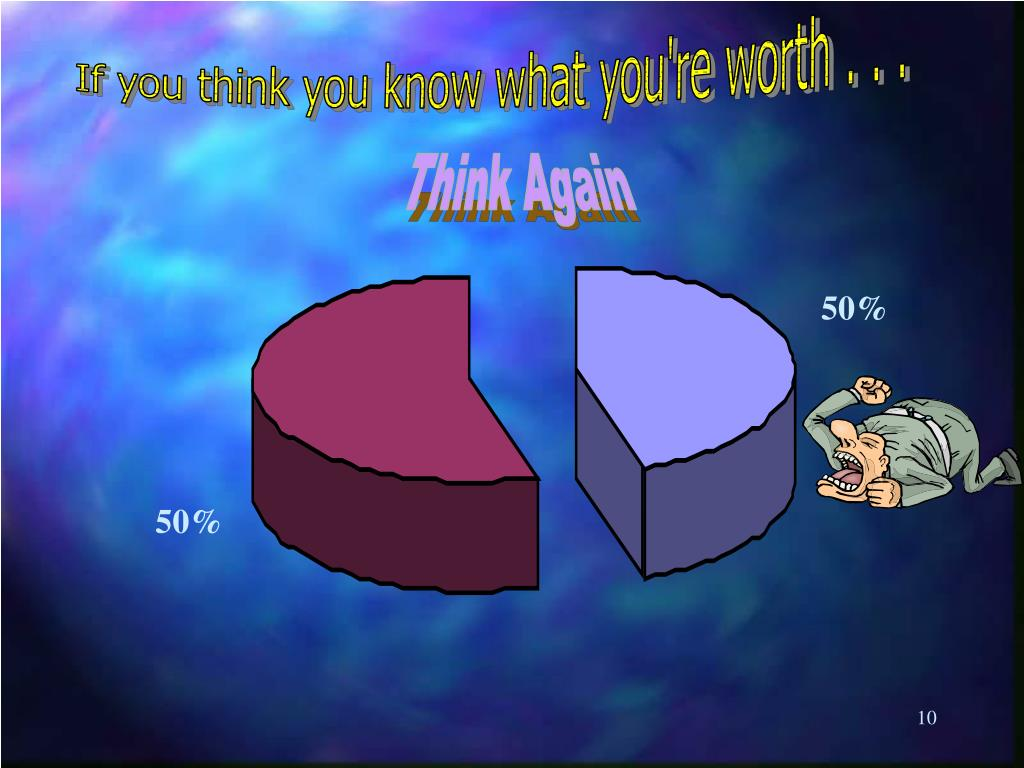 If you think you know what you're worth . . .