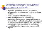 disciplines and careers in occupational and environmental health