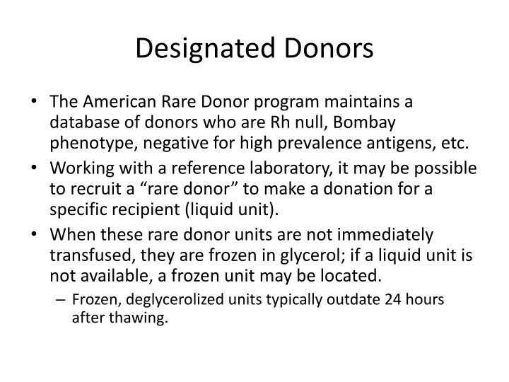 Designated Donors