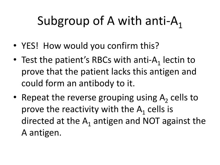 Subgroup of A with
