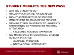 student mobility the new wave