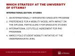 which strategy at the university of ottawa