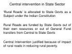 central intervention in state sector