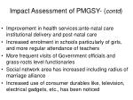 impact assessment of pmgsy contd