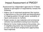 impact assessment of pmgsy