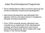 indian rural development programmes