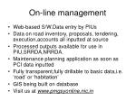 on line management